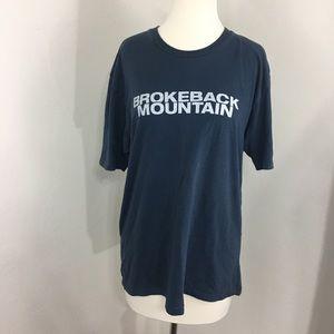 Brokeback Mountain XL tee blue